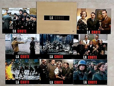 2004 DOWNFALL Hitler WWII ww2 Bruno Ganz Lobby Cards set