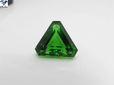 1x Tektit - (Moldavit) Trillion Grün facettiert 16,74ct. 16,8x17,0x11,7mm(9001)
