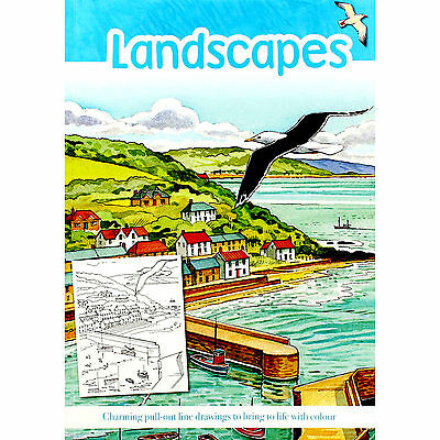 Landscapes Adult Colouring Book (New Country Rural Mindfulness Anti-Stress P/B)