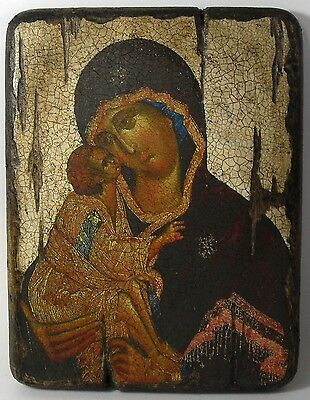 Handmade copy ancient icon ORTHODOX CHURCH Prayer ICON Mother ofGod Donskaya 5XL