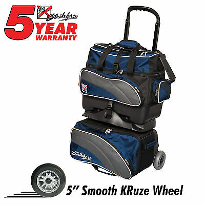 KR Strikeforce Apex 4 Ball Roller Bowling Bag Navy