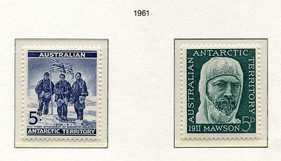 s3411a) AUSTRALIAN ANTARCTIC 1961 MNH** Definitives 2v