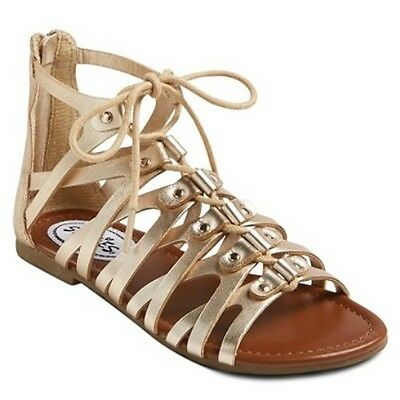 2de04a52ccea Stevies  trendy Style Girls Shoes   Gold Ghillie Gladiator Sandals   Youth  Nwt!