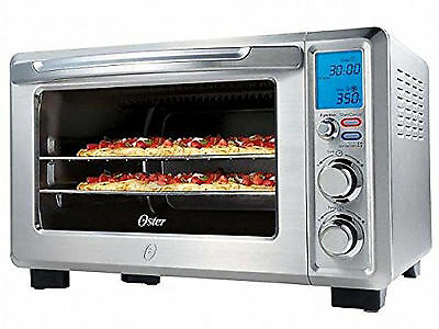 Toaster Oven Convection 6 Slice Large Capacity Countertop Bake Stainless Steel