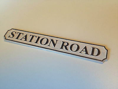 Personalised Dolls House Street Name Sign **any Name Laser Engraved** 1:12 Scale