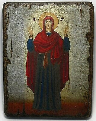 Handmade copy ancient ORTHODOX CHURCH ICON Mother of God Inviolable Wall 40XL