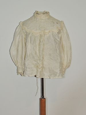 Victorian Ivory Silk / Lace Blouse SM - MED