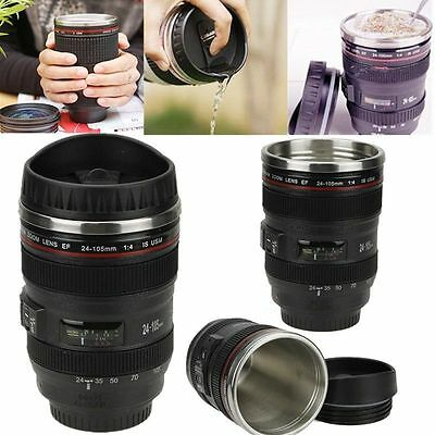 Camera Lens Thermos Mug Tea Water Travel Thermal Coffee Cup high quality