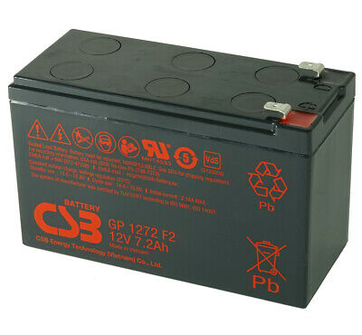 CSB GP 1272 F2 Rechargeable Sealed Lead Acid Battery 12V 7.2Ah GP1272F2 SLA
