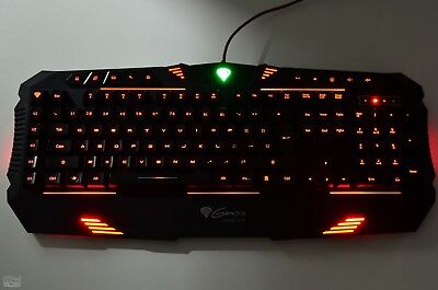 Four Backlight Modes Usb Gaming  Keyboard  For Pc Rx66 Natec