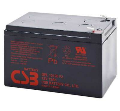 CSB GPL 12120 Rechargeable Sealed Lead Acid UPS Battery 12V 12Ah GPL12120F2 SLA