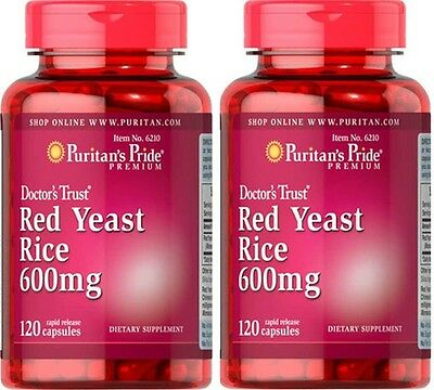 2X Red Yeast Rice 600 mg x 120 (240) Capsules Puritan's Pride **AMAZING PRICE**