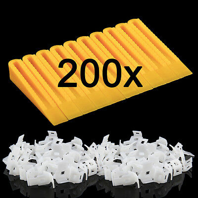 200 Tile Leveling Spacer System Construction Tool Spacer-Flooring Lippage NEW UK