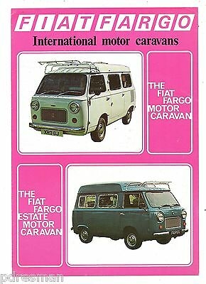 """ Fiat Fargo  Motor & Estate  Caravan ""  Original  Sales  Brochure."