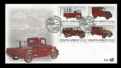 South Africa 1999 Classic Post Vehicles FDC