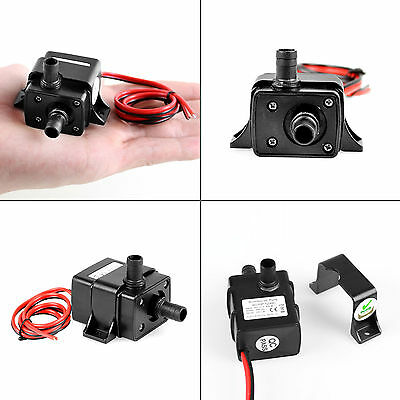 Mini DC12V 3m 240L/H Brushless Motor Submersible Water Pump Home Fish Pond UL