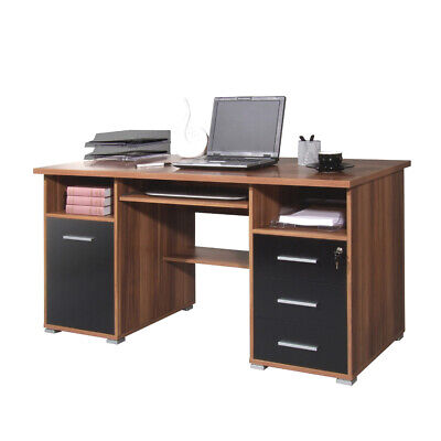 schreibtisch eckschreibtisch wei schwarz computertisch pc. Black Bedroom Furniture Sets. Home Design Ideas