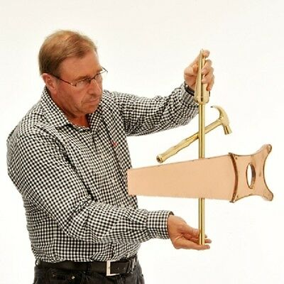 Copper Weathervane - Hand Made Hammer and Saw & Bracket