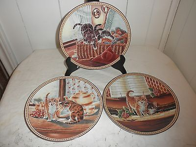 Knowles Pussey Footing Around Set of 3 Collector Plates