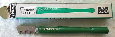 Diamantor Glass Cutter= Made In Germany= New/ Old Stock= Wooden Handle= Steel Wh