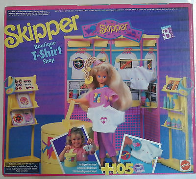 Barbie - Skipper - Boutique T-Shirt Shop - Mattel - 1990