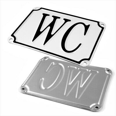 WC (1) Vintage French Style Bathroom Doors Sign Plaque Antique Style Toilet Loo