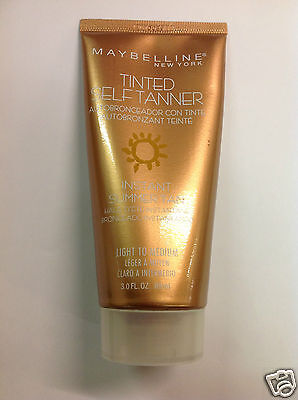 Maybelline Tinted Self Tanner Instant Summer Tan LIGHT TO MEDIUM 3.00 FL.OZ.