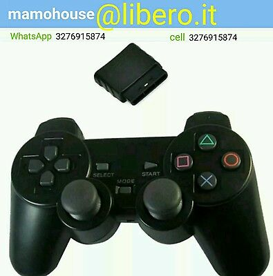 Controller Wireless Joystick Joypad Senza Fili Compatibile Ps2 Playstation