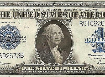 Unc 1923 $1 Dollar Bill Large Silver Certificate Currency Big Paper Money Note