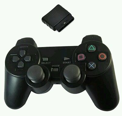 2 pz CONTROLLER WIRELESS JOYSTICK JOYPAD SENZA FILI COMPATIBILE PS2 PLAYSTATION