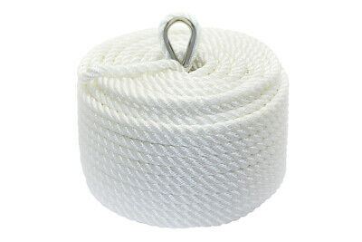Nylon 3 Strand Twisted Anchor Line 10mm x 45m, White