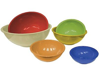 Gourmet Home Products 6 pc Multicolour Mixing-Bowl Set with Bamboo Outer Bowl