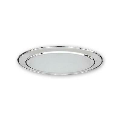 Oval Platter, 600mm, Stainless Steel, Oval w Rolled Edge, Plate / Catering