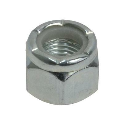 "Pack Size 100 Zinc Plated Hex Nyloc 3/8"" UNF Imperial Fine Grade 5 Insert Nut"