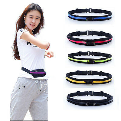Running & Cycling Gym Storage Belt ULTRA SLIM With Zip Pocket: Mobile Money Keys