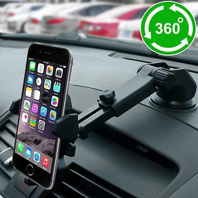360º Car Windshield Dashboard Suction Cup Mount Holder Cradle For Cell Phone GPS
