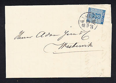 Sweden Cover w/ 12 Ore Deep Blue19.9. 1871 to Wastervik Posted from Gamleby SG 8