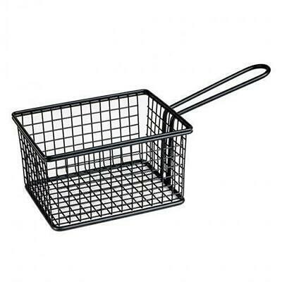 Fryer Style Serving Basket 142x114mm, Black, Chips / Fries / Sides / Tapas