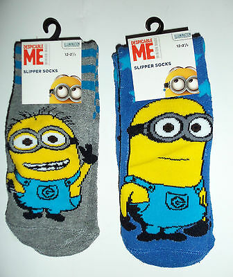 Child Slipper Socks with 'Despicable Me' Minions detail