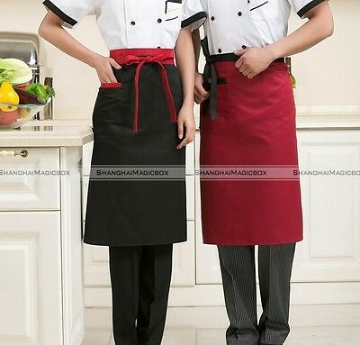 Apron with Front Pocket for Chefs Waiter Kitchen Cooking Craft Baking