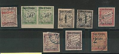 55002 -  FRENCH COLONIES: COTE D'IVOIRE - STAMPS: FINE lot of POSTAGE DUE STAMPS
