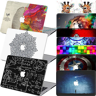 Rubberized Unique Design Hard Case Cover For Macbook Pro Air 11/12/13/15 +Gifts