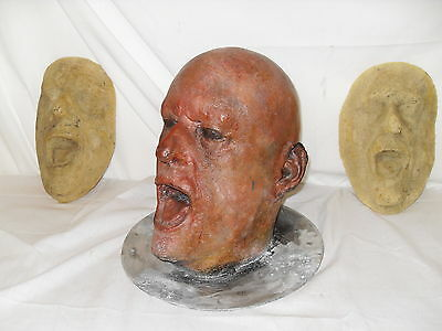 David Troughton Aluminium Life Cast Full Size Full Head Life Mask - RSC / Dr Who