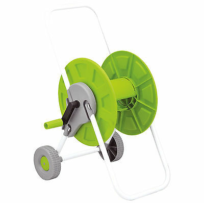 60m Hose Pipe Reel Holder Trolley Cart Garden Water Portable Free Standing