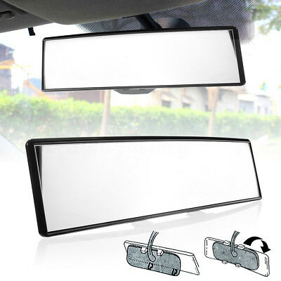 Universal 300mm Wide Convex Curve Interior Clip On Panoramic Rear View Mirror