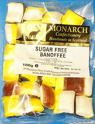Banoffee Monarch Sugar Free Boiled Sweets 100g