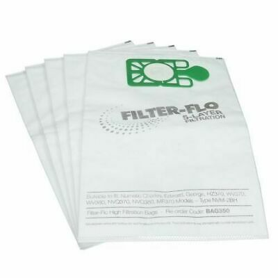 High Quality Numatic NVM-2BH Filter-Flo Dust Bag Pack of 5 BAG350