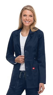 "Navy Blue Dickies Scrubs Gen Flex 28"" Lab Coat 82408 NVYZ"