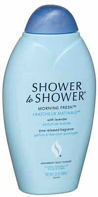 5 Pack - SHOWER TO SHOWER Body Powder Morning Fresh 13 oz Each