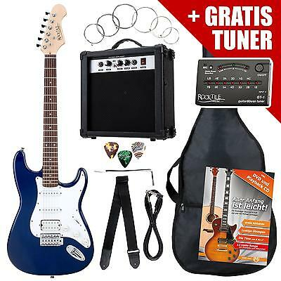 Electric Guitar Package With Amplifier Bag Tuner Cable Strap Plectrums & Strings